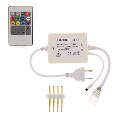 MagiDeal Commutateur à Distance RF Gradateur RGB pour LED Lampe Strip à 11/20/44touches - 20 Touches
