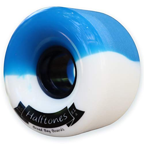 Broad Bay Halftones Longboard Wheels Longboarding Skateboard Wheels - 65mm 81a