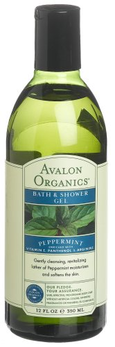 Avalon Organics Peppermint Bath And Shower Gel, 12-Ounce Bottle (Pack of 2) by Avalon BEAUTY (English Manual)