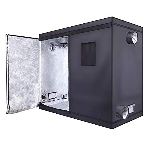 Krispich Grow Tent with Observation Window Home Use Dismountable Hydroponic Plant Growing Tent 240 * 120 * 200cm