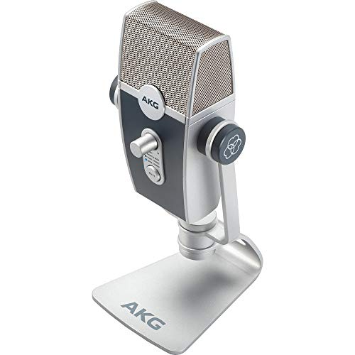 AKG Lyra Ultra-HD, Four Capsule, Multi-Capture Mode, USB-C Condenser Microphone for Calling, Recording and Streaming, WEB CONFERENCING & VOIP