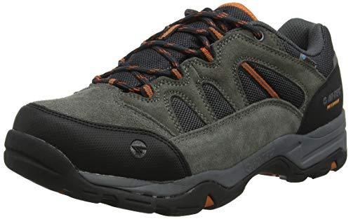 Hi-Tec Banderra II Low WP Wide, Zapatillas de Senderismo Hombre, Gris (Charcoal/Graphite/Burnt Orange 51), 44 EU
