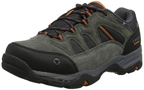 HI-TEC Banderra II Low WP Wide, Stivali da Escursionismo Uomo, Grigio (Charcoal/Graphite/Burnt Orange 51), 47 EU