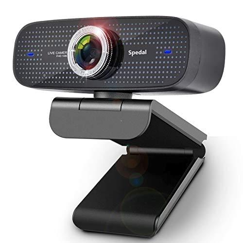 Webcam HD 1080P Stream Webcam per PC con Microfono Web Camera Compatibile con Xbox OBS Twitch Skype Youtube XSplit, Compatibile per Windows Mac