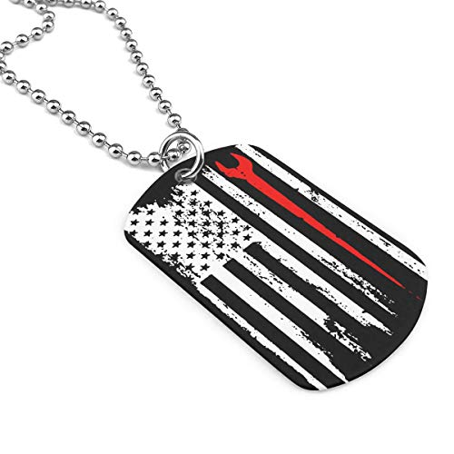Ironworker Profession USA Flag Jewelry Pendant Military Brand Necklace Metal Dog Tag