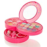 Pop Girls 3 Tier Girls Real Make-up Set - Safe Cosmetics Set For Children
