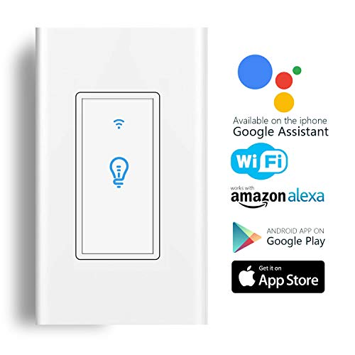 in-wall wireless smart switch compatible with amazon alexa
