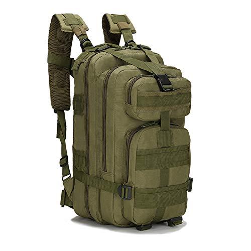 PULUSI 20-35L Militare Tactical Zaino Army Assault Pack Molle Bug Out Bag Zaino Zaini per Outdoor Escursionismo, Campeggio Arrampicata Verde (43,2 x 24,1 x 21,6 cm