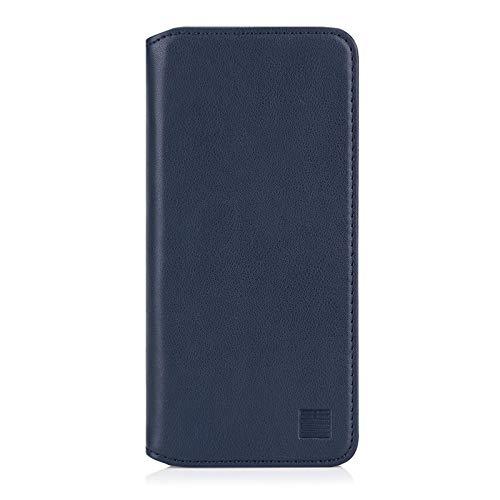 32nd Klassische Series 2.0 - Lederhülle Hülle Cover für Samsung Galaxy S20 Ultra, Echtleder Hülle Entwurf gemacht Mit Kartensteckplatz, Magnetisch & Standfuß - Marineblau