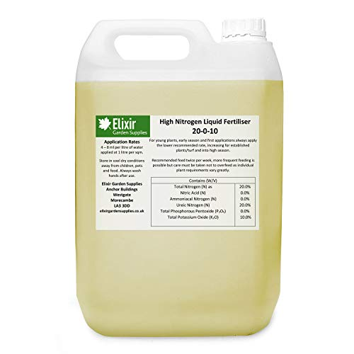 Elixir Gardens | High Nitrogen Liquid Fertiliser | 10 Litre Bulk Buy Bottle...