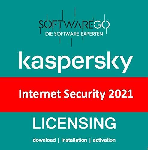 Kaspersky Internet Security | 2021 | 3 Geräte | 1 Jahr | Vollversion (als Update & Standart verwendbar) | PC/Mac/Android | Lizenzcode per Post in frustfreier Verpackung | designed by softwareGO
