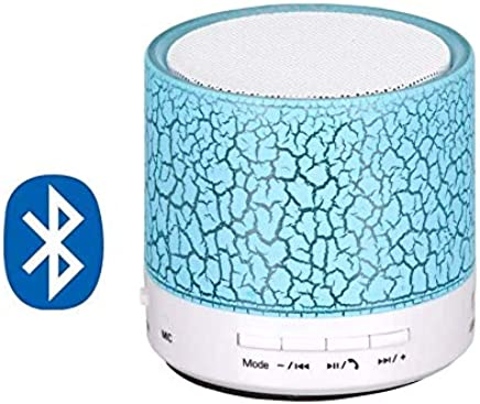 FORESTONE LED Bluetooth Mini Speakers with Handsfree Calling, FM Radio, Deep Bass Audio and SD Card Support