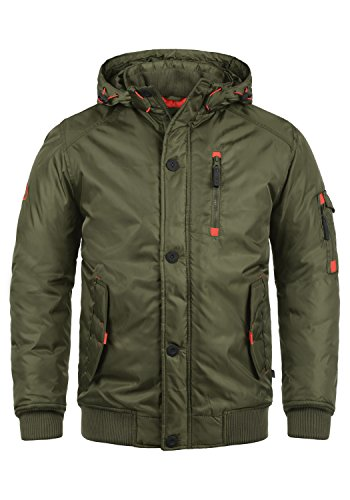 !Solid Bettino Herren Übergangsjacke Herrenjacke Jacke mit Kapuze, Größe:XXL, Farbe:Ivy Green (3797)