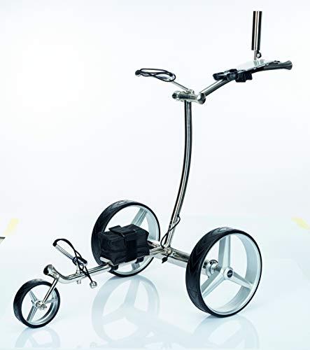 GolfTed GT-N Elektrischer Golftrolley Edelstahl Inklusive alle Zubehör (5X) 2 Jahre Garantie