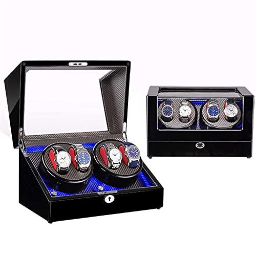 WBJLG Caricatore Automatico per Orologio,4 avvolgitori per Orologi Automatici,Illuminazione incorporata,Adatto per Orologio da Polso da Uomo e da Donna