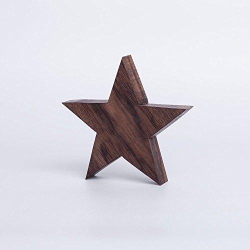 Woods Holzstern Nussbaum - Dekoration aus Holz handgefertigt in Bayern I Holzstern zum hinstellen - gemütliche Advent & Weihnachtsdeko für Fenster Flur Tür & Co I Holzstern groß 12, 16 oder 21 cm