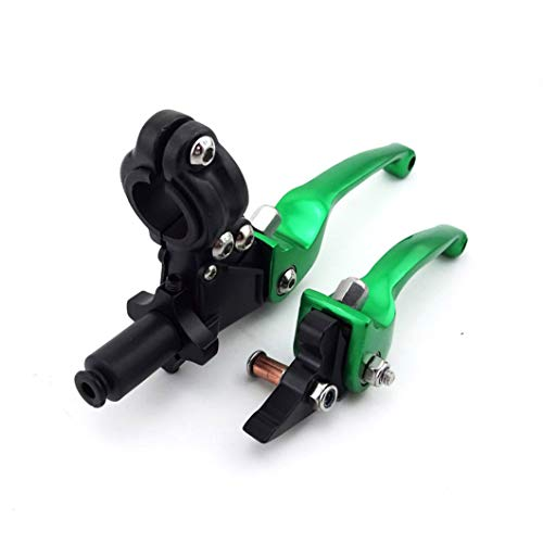 XLYZE CNC Palancas de embrague de freno verde para 50cc 110cc 125cc 140cc 150cc CRF XR KLX TTR SSR SDG YCF Pit Dirt Bike