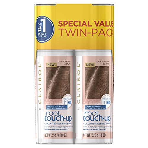 root touch ups Clairol Root Touch-Up Temporary Spray, Medium Brown Hair Color, 2 Count
