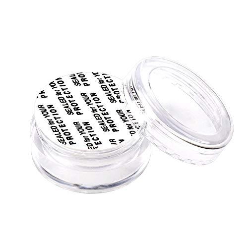 100 contenants de cosmétiques en plastique vides, Emballage échantillon portable , Flacon de voyage pour crème, maquillage, fard à paupières, etc., avec films sensibles à la pression et mini-spatule