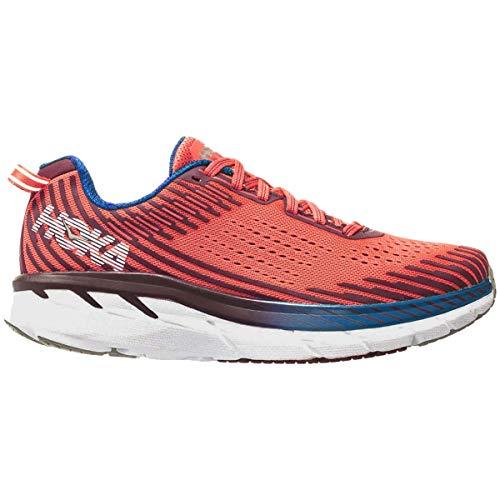 Hoka One One Clifton 5 Running Shoes Women Emberglow/Fig Schuhgröße US 6,5 | EU 38 2019 Laufsport Schuhe