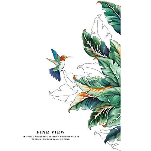 Kreative Kolibri und Blätter Wandaufkleber wasserdicht Hause Wohnzimmer Kinderzimmer Tür Aufkleber Bad Tapete selbstklebend