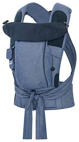 Bondolino Plus Babytrage inklusive Bindeanleitung, blau-melange