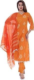 Women's Cotton Blend Readymade Salwar Suit