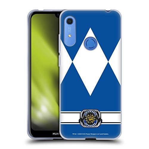 Head Case Designs Oficial Power Rangers Ranger Azul Disfraces Retro Carcasa de Gel de Silicona Compatible con Huawei Y6 / Y6s (2019)