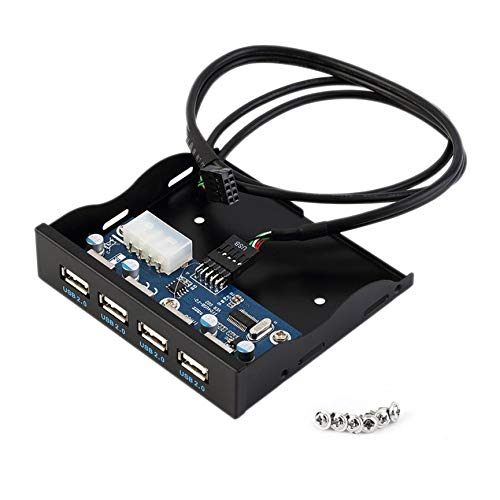 Peanutaoc Praktische 3,5 inch Floppy Bay Voorpaneel 4 Poorten USB HUB 2.0 Expansie Adapter