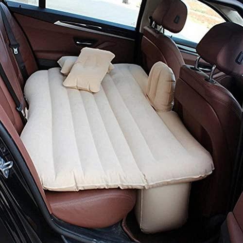 angelHJQ Cama de viaje de coche, cubierta de asiento trasero de coche, colchón de aire, cama de viaje, colchón inflable con dos almohadas de aire, camping al aire libre