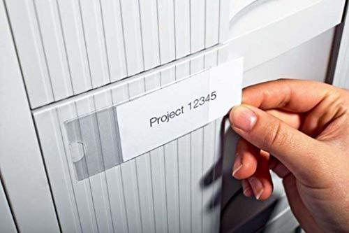 Durable 802119, Pocketfix, Tasca Adesiva con Inserto in Cartoncino per Cataloghi, Portalistini, 76 x 35 mm, Trasparente, Confezione da 10 Pezzi