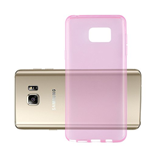 Preisvergleich Produktbild Cadorabo Hülle für Samsung Galaxy Note 5 - Hülle in TRANSPARENT PINK Handyhülle aus TPU Silikon im Ultra Slim 'AIR' Design - Silikonhülle Schutzhülle Soft Back Cover Case Bumper
