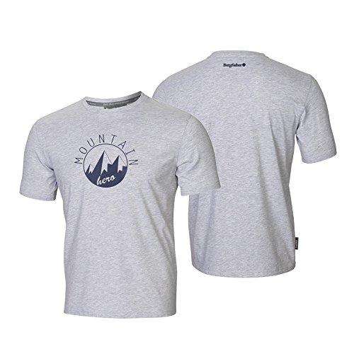 Bergfieber Herren MTN`Hero T-Shirt, grau melliert, XL