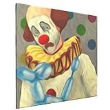 Sad Clown Home Bedroom Decor Wall Art Canvas Prints Artwork Painting Pictures 16'X16'