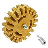 Bestgle 26mm Gomme Roue Pneumatique en Caoutchouc Disque de Dégommage Pneumatique pour Pinstripe Autocollant Vinyle Graphique