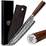 YOUSUNLONG Tanto coltello da chef in damasco da 10 pollici affilato come un rasoio in acci...