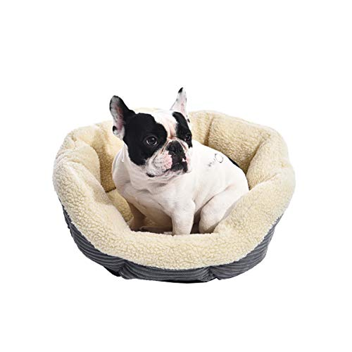 AmazonBasics - Cama para mascotas redonda y cálida, 56 cm