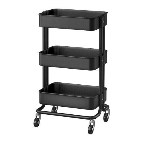 ☆2016☆NEW☆ IKEA RASKOG ワゴン ブラック 35x45x78 cm ※こちらの商品はブラックになります
