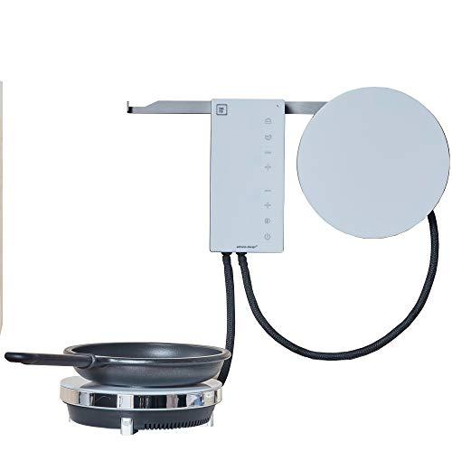 Fabita Ordine – Elektro-Kochfeld für Induktionsherd, Glaskeramik, 2 Flammen, tragbar, Farbe Weiß