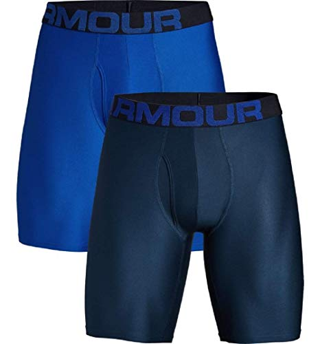 Under Armour Tech 9in 2 Pack Ropa Interior, Hombre, (Royal/Academy (400), L