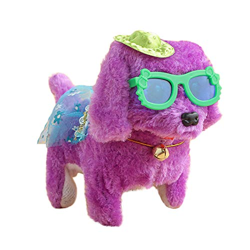 Electric Dance Puppy Wearing Skirt with Glasses Hat Puppy Stuffed Toys Gift 3PCS Toys and Hobbies