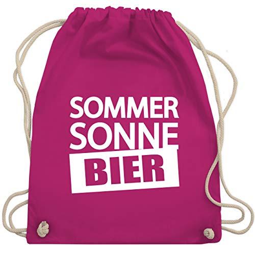 Shirtracer Festival Turnbeutel - Sommer Sonne Bier - Unisize - Fuchsia - bier turnbeutel - WM110 - Turnbeutel und Stoffbeutel aus Baumwolle