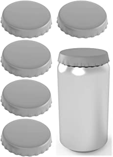 Silicone Soda Can Lids – Can Covers – Can Caps – Can Topper – Can Saver – Can Stopper – Shield your coke, beer, and pop cans from flies, bees, and dust! – Fits standard soda cans (6 Pack, Grey)