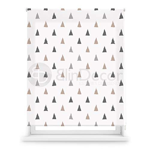 Blindecor Estor Enrollable translúcido Digital, Polyester, Blanco (Tr
