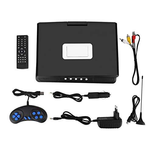 Socobeta Reproductor de DVD Recargable portátil Reproductor de TV para Juegos Reproductor Multimedia con HD Pantalla LCD de 9.8 Pulgadas(Enchufe de la UE)