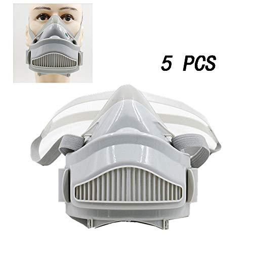 CNRGHS Industriële Respirator, 360 ° Volledige Seal Protection, Anti-stof Stof Schuren, 308 Siliconen Zelfreinigingsfilter Respirator voor schilderijen, Machine Polijsten, Lassen en andere werkzaamheden