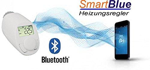 Preisvergleich Produktbild SmartBlue Heizköperthermostat Bluetooth,  Programmierung über Smartphone oder Tablet