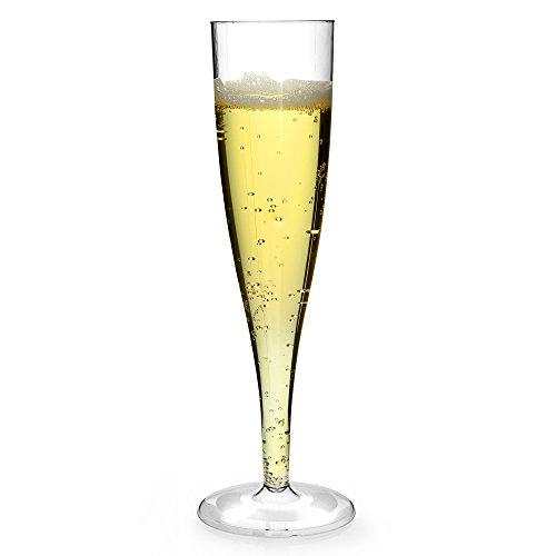 Juego de 50 copas de champán (plástico, 30 ml) Ideal para eventos, barbacoas, pícnics, camping, acampada, festivales y uso general.