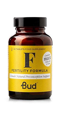 Bud Female Fertility Supplement | Natural Fertility Vitamins for Women with Maca + Folic Acid, Zinc & Vitamin D | 60 Tablets - Made in UK