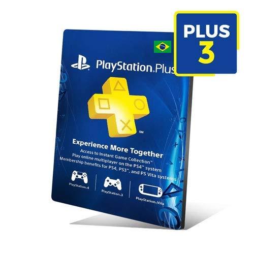 Cartão Playstation Plus 3 Meses Assinatura Brasil